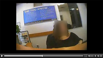 Photo for video mystery shopper company showing a cashier being shopped